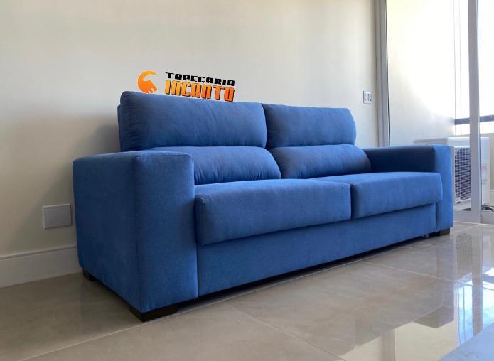 Sofá Convencional Azul